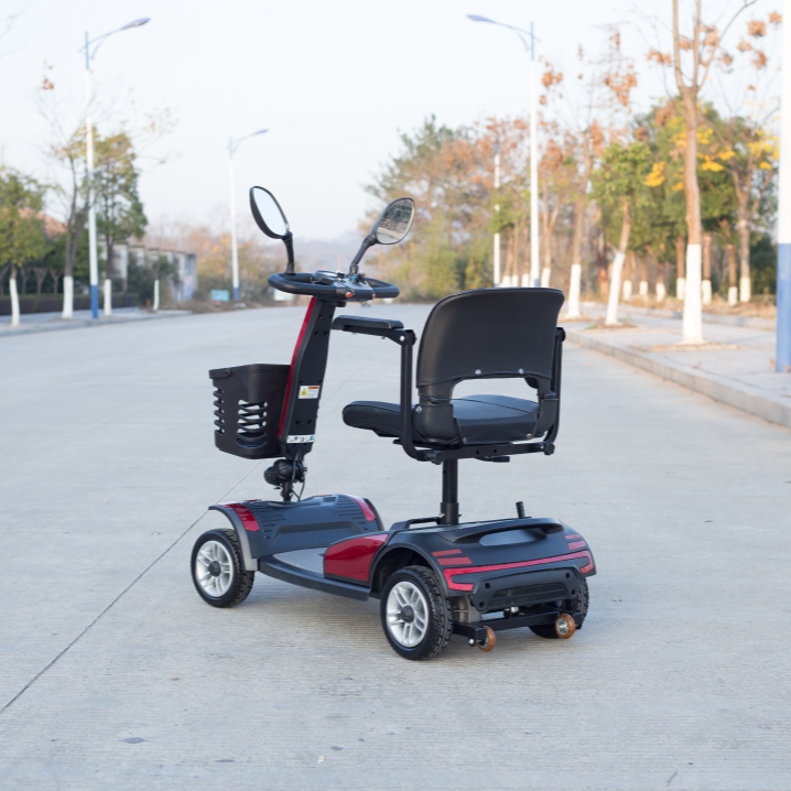 7inch 4 wheel mobility scooter electric foldable for disabilities Elderly adult power chair handicap vehicle