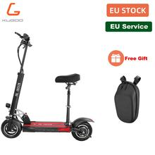 EU KUGOO M4 Folding E Scooter with Seat for Adult 500W Motor 3 Speed Modes 45km/h Load 150kg 10 Inch Pneumatic Tire Dual Brake