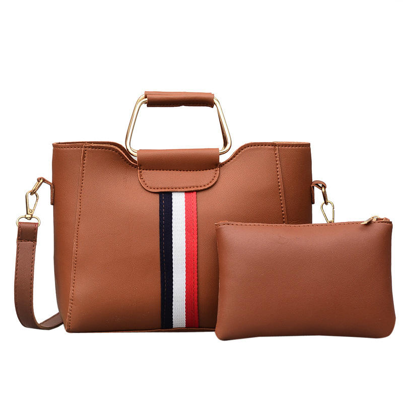 Bags Women Handbags Lady Source Manufacturing Shoulder Bag Office 2pcs Set Pu Leather Lady Handbag