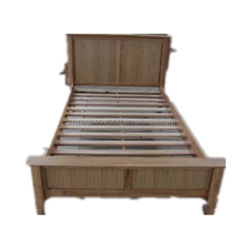 single Solid OAK Wood Bed frame From Shandong Good Wood JIA MU JIA