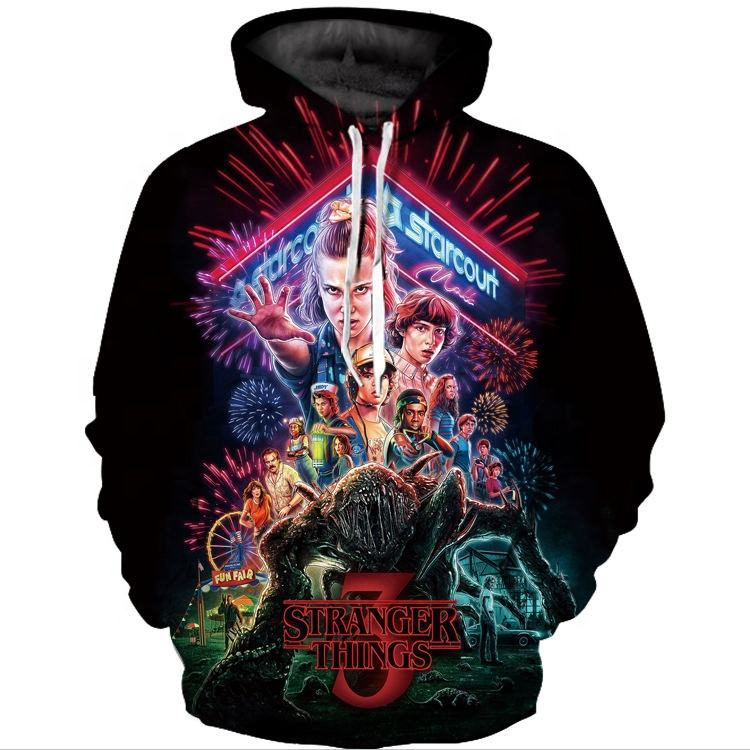 X0998L 2020 stylish comfortable breathable xl 3D digital printed hoodie