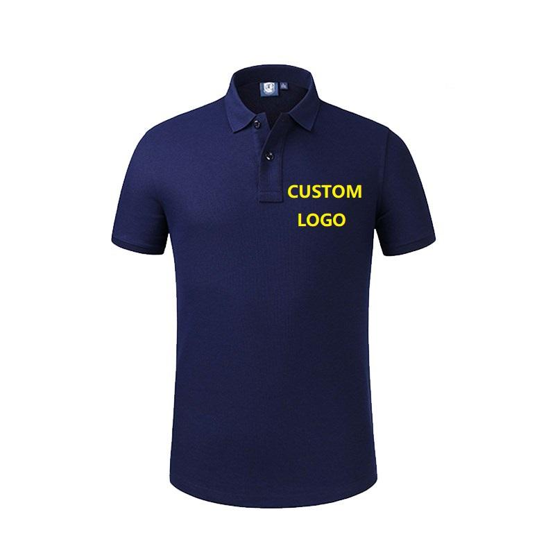 Fashion 100% Cotton Golf Slim Fit Polo Shirt Men