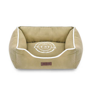 Luxury Oxford Canvas Fabric Square Shape Pet Dog Bed