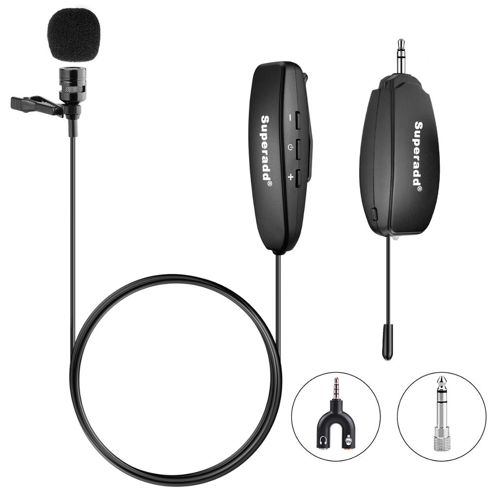 Uhf Wireless Wearable Recording Microphone Usb Type C Lavalier Lapel Microphone For Mobile Phone And Camera