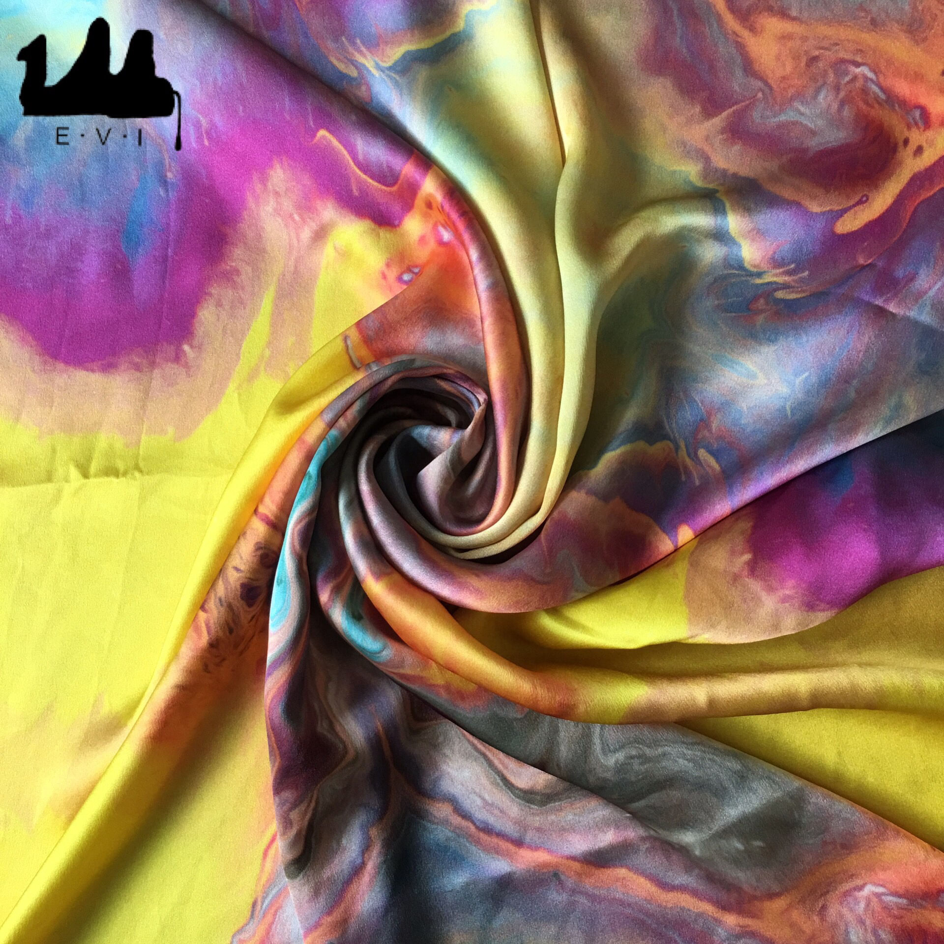 100% digital printed silk fabric