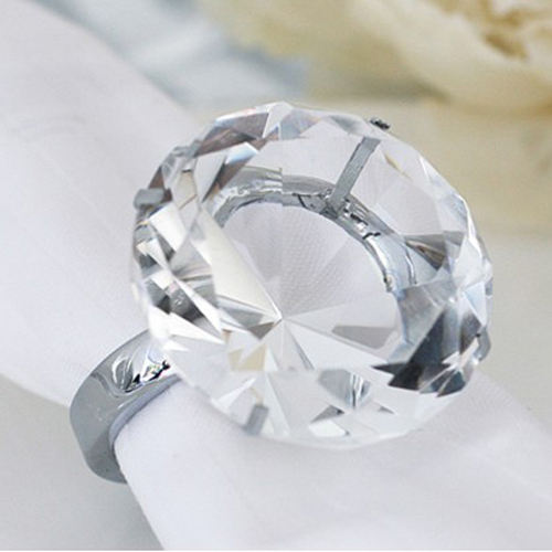 MH-CJ001 wholesale cheap bulk wedding souvenir crystal diamond napkin ring
