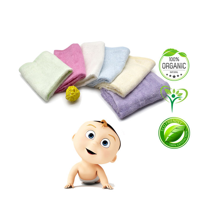Organic Bamboo Fiber baby washcloth Baby Wash cloth washcloths