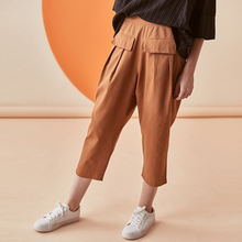 2020 spring and summer new casual wide leg pants elastic waist trousers women's clothing [E2T]