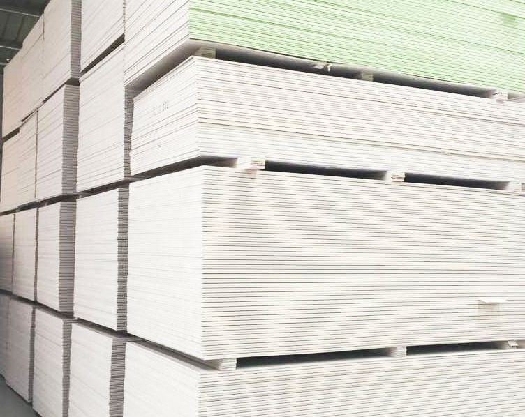 Common Gypsum Board Interior Wall Panel 12mm china Gypsum Drywall for construction partition panel wall