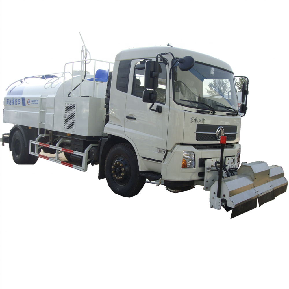 RHD Kingrin 4x2 new 10 ton high pressure road cleaning truck for sale
