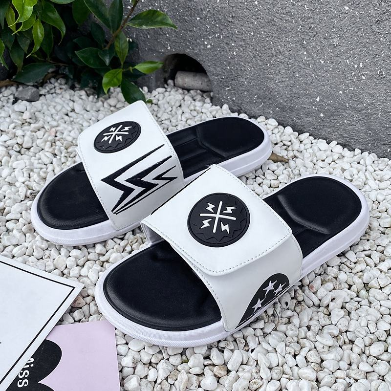 New arrival hot sale factory wholesale good quality beach summer outdoor slippers men rubber
