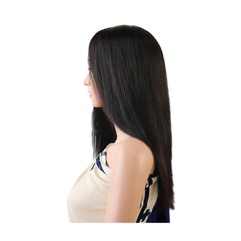 Free shipping high quality straight wig full lace human hair wigs light colors custom made with a template