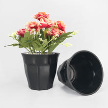 chinese exported wholesale black plastic outdoor balcony plant pot for pott plant