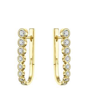FASHION Crystal Simple Hoop Earrings For Women Gold Color Small U Shape Zircon Hoops Earings Fashion Jewelry E191100