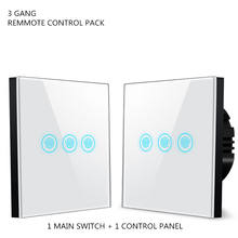 3 gang Glass Panel remote control Touch Switch wall light switch