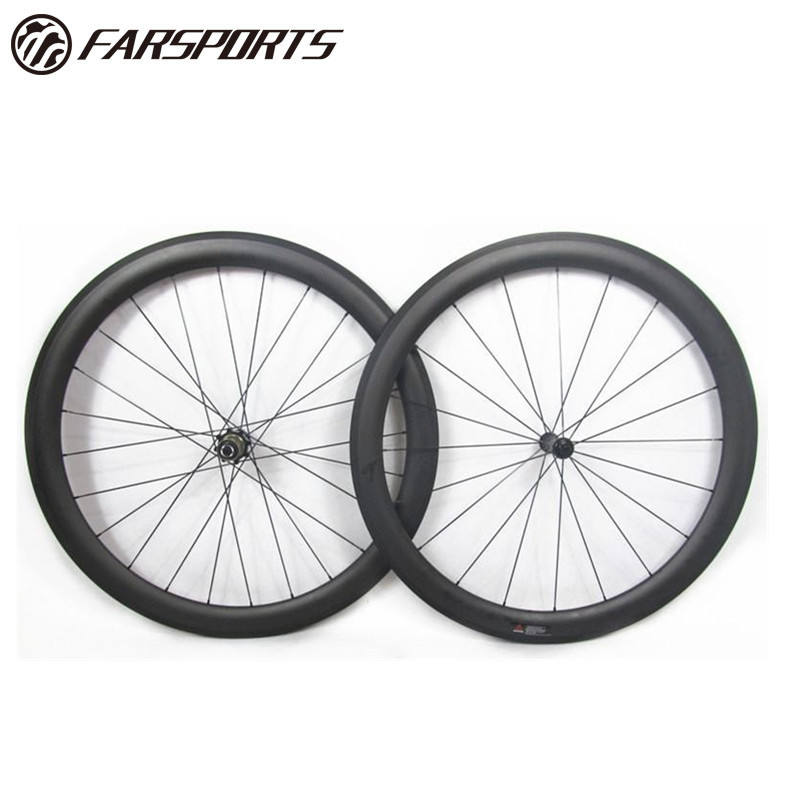 Sapim Cx-ray [ Carbon Bike ] Carbon Hotselling 50mm Carbon Wheelsets For Road Bike 20H 24H 700C Full Carbon Fiber Toray From China Farsports Suerplight 1390g