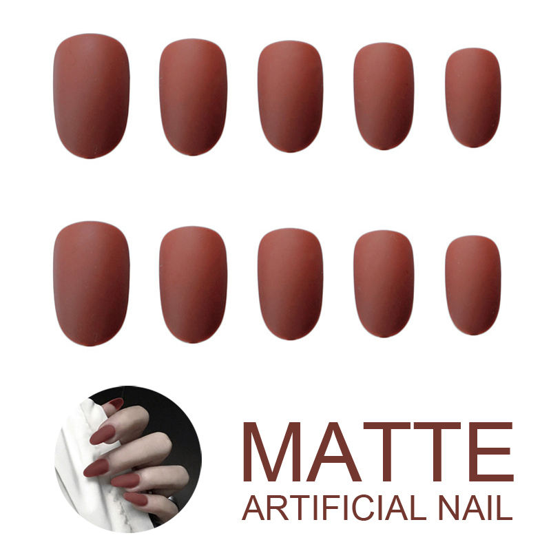 Fake Nail Tips Full Cover Half Cover Press On Nails False Nails Matte Artificial Fingernails