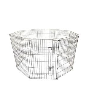 Pet Laufstall 8 Panel Indoor Outdoor Metall Tragbare Falten Tier Übung Hund Zaun