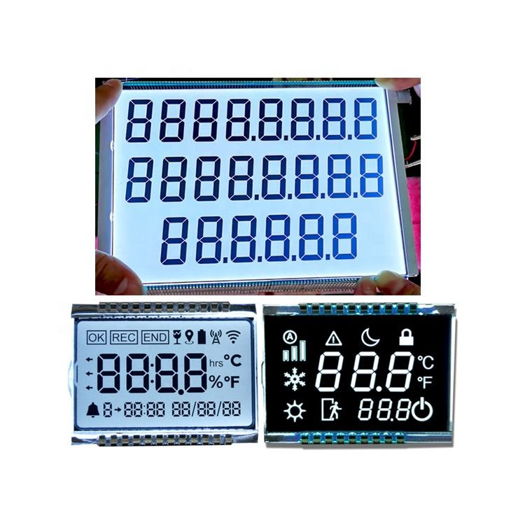 Custom Size Monochrome Display LCD 886 7 Segment LCD For Fuel dispenser
