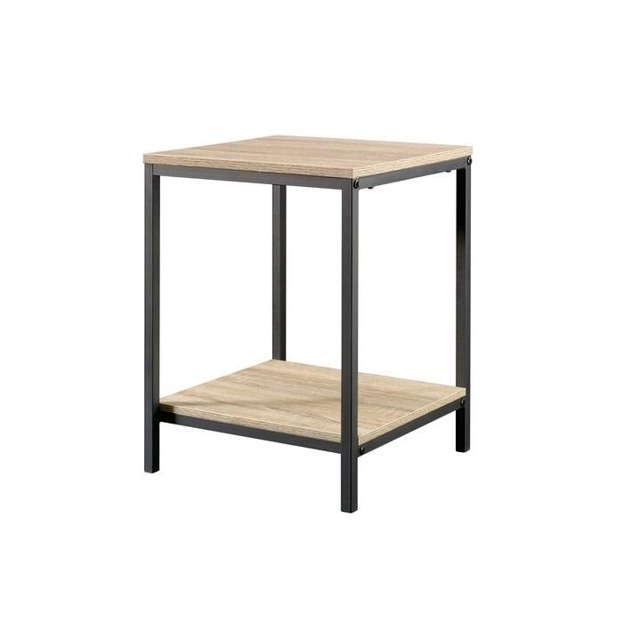 High Quality Metal frame Storage Industrial Commercial Master crafted Vintage Rustic Look Shelve Low Price Wooden top Side Table
