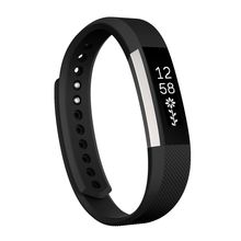 For Fitbit Alta Watch Oblique Texture Silicone Watchband, Large Size, Length: about 22cm(Black)