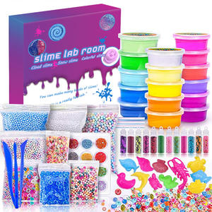 Educational Activator Crystal Clear Cream Set Slime Putty Making Kit Kids DIY Charms Toys Slime Kit for Kids
