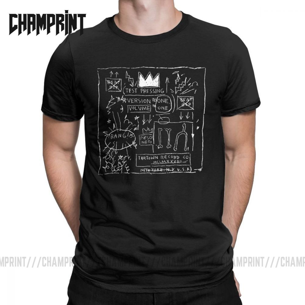 Jean Michel Basquiat Beat Bop Album Fan Art T Shirt Men Cotton Novelty T-Shirt O Neck Tee Shirt Short Sleeve Clothing Big Size