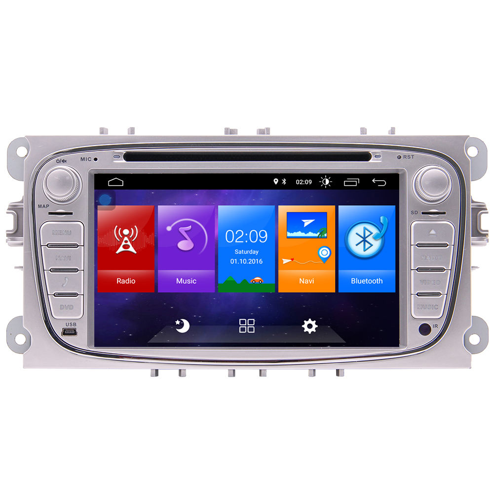 Doppel 2 Din Autoradio Quad Core Radio Stereo <span class=keywords><strong>DVD</strong></span>-Player geeignet für Ford Focus s max Mondeo Tourneo Navigation GPS Auto Video
