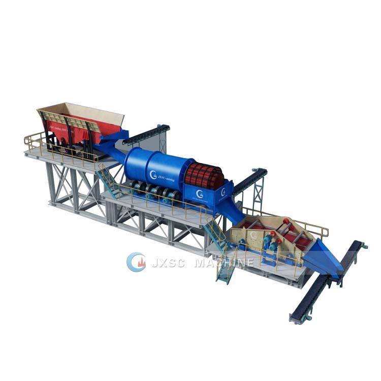 New Service Mining Equipment Alluvial Gold Mine Processing Machine Trommel Wash Placer Diamond Washing Plant