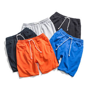 Wholesale custom oem 2020 summer 70% cotton jogger workout shorts for mens