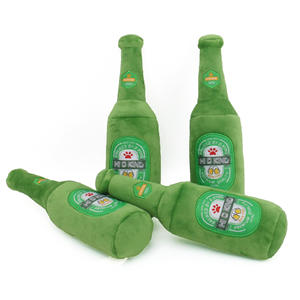 Champagne Bottle Pet Sounding Bite Resistant Plush Dog Toy