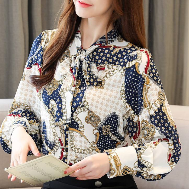 hb10260a 2020 new Korean women's chiffon shirt fashion lady tops