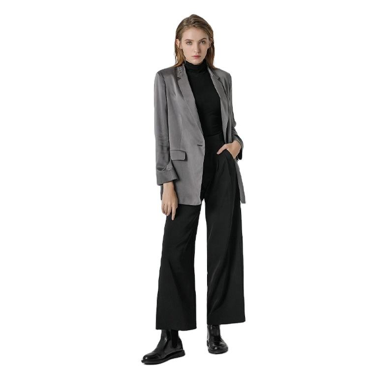 High Quality Womens Jacket OEM Utility Office Ladies Woman Fashion Buttoned Suits Blazers