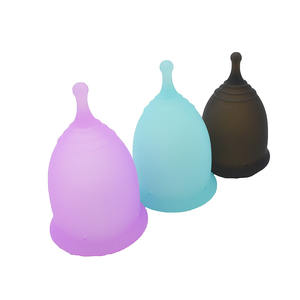 Eco Friendly Plastic Menstrual Pads Reusable Cup 100% Medical Silicone Anytime Usage Menstrual Cup