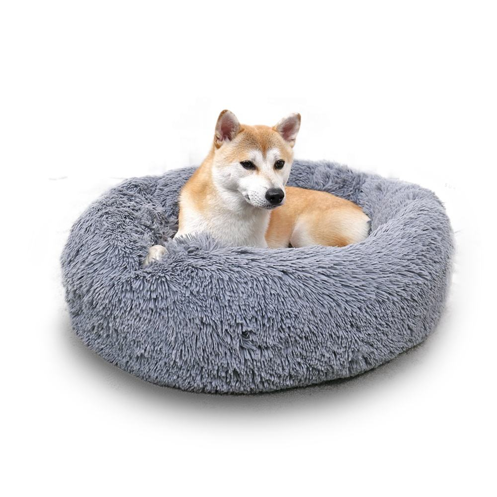 Hot Sale Pet Donut Cushion Home Warm and Cozy Cat Rest Place Round Plush Dog Bed