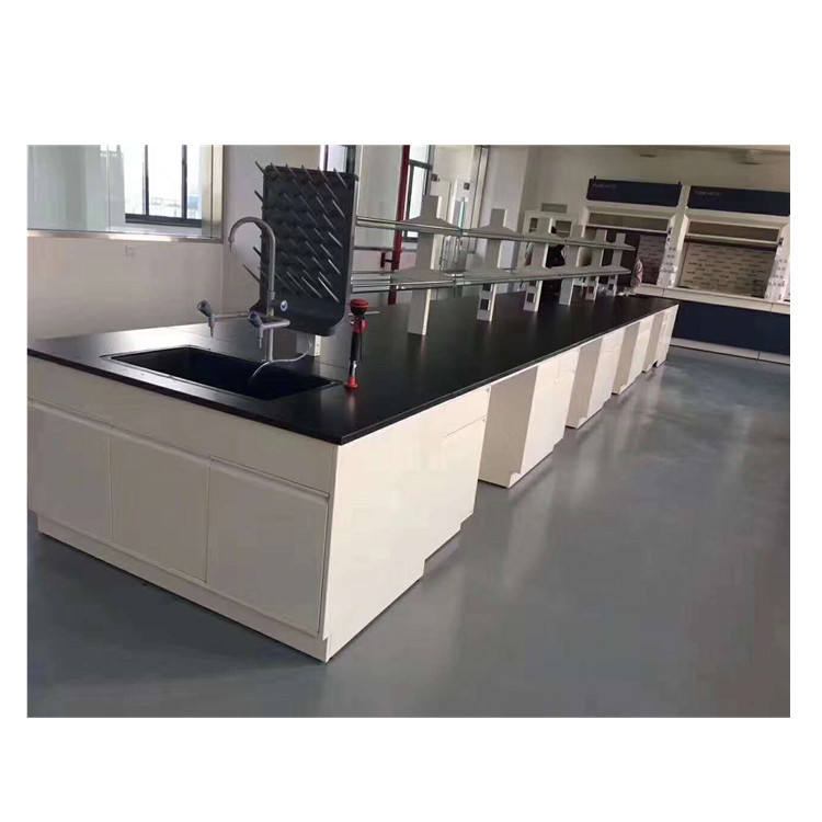 Lab table with reagent shelf drawer physical chemistry medical lab furniture customized laboratory workbench