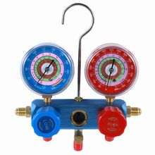HF freon refrigeration double manifold gauge set Regulator R410a R32 R22 R404 R407