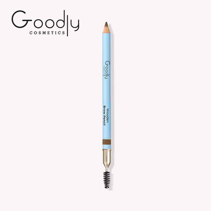Privater Label Eyebrow Pencil New Style Easy To Wear Eye Brow With Brush Wooden Brown Pencil