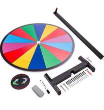 "GIBBON  24"" Tabletop  Prize Wheel 14 Slots with Color Dry Erase Trade Show Fortune Spin Game"