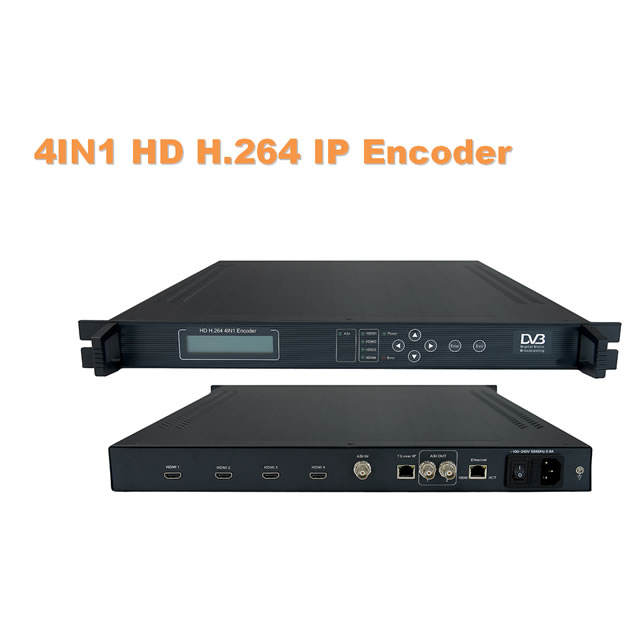 SD/HD H.264 4HD Encoder (H DCP/volume di modifica, 4 * H DMI + ASI in, ASI + IP (1 * MPTS/4 * SPTS) out)