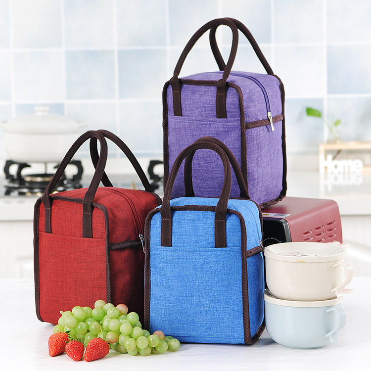 portable eco aluminum film thermal bento tote bag bulk lunchbox women/kids/girls/ladies/student insulated cooler lunch bags