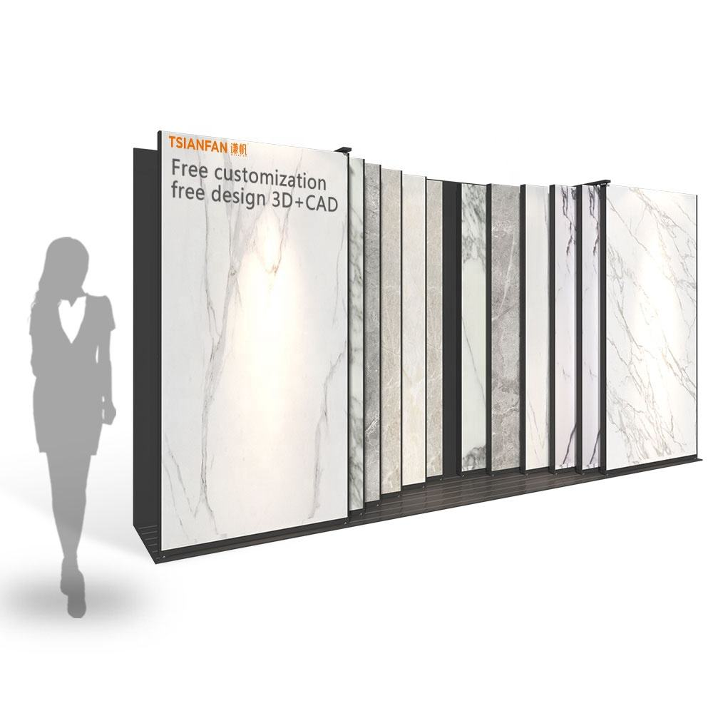 Marble Granite Floor Frame Show Metal Exhibition Holder Showroom Marble Stone Mosaic Ceramic Rack Stand Tile Display