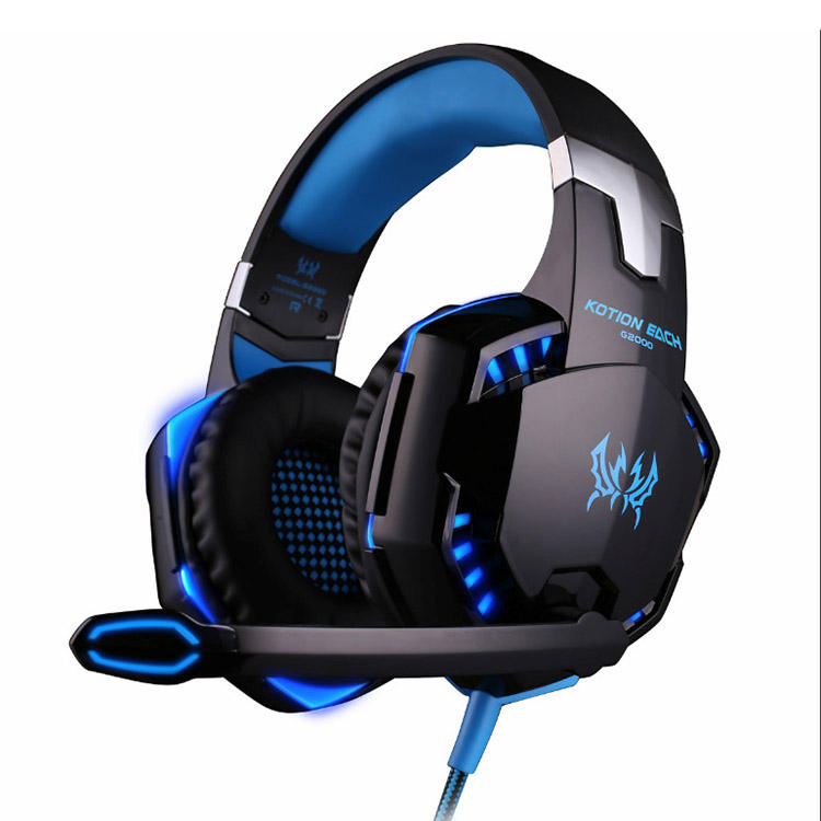 Hohe <span class=keywords><strong>Qualität</strong></span> Verdrahtete Berufs USB LED Stirnband Gamer Kopfhörer PC Computer Noise Cancelling Die <span class=keywords><strong>g2000</strong></span> Gaming Headset