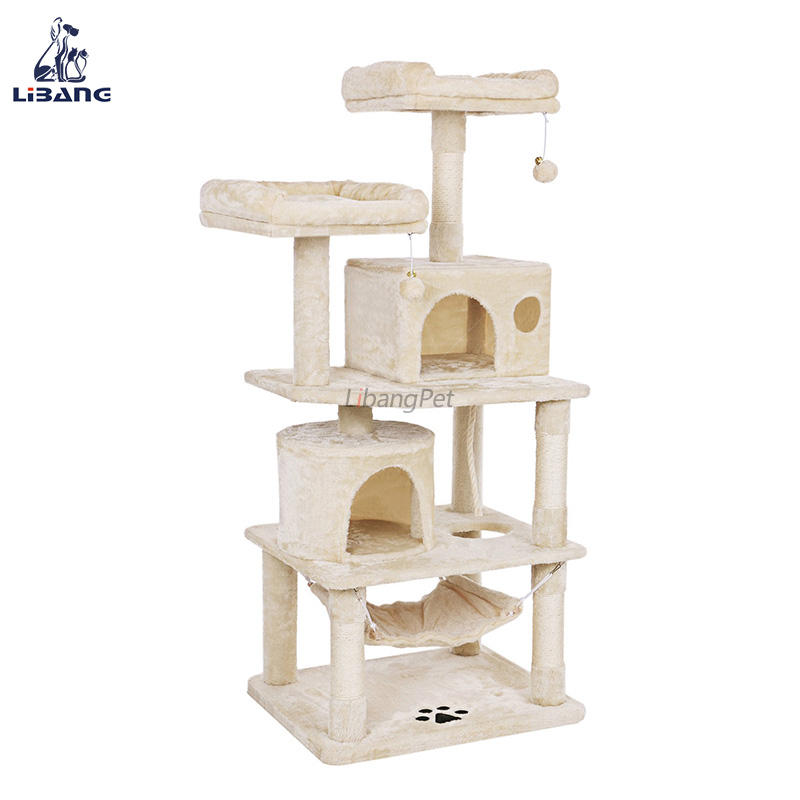 high quality maine coon pink flower cat tree parts