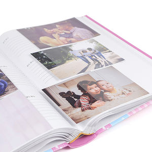 Printed hard paper cover fancy travel romantique baby photo album