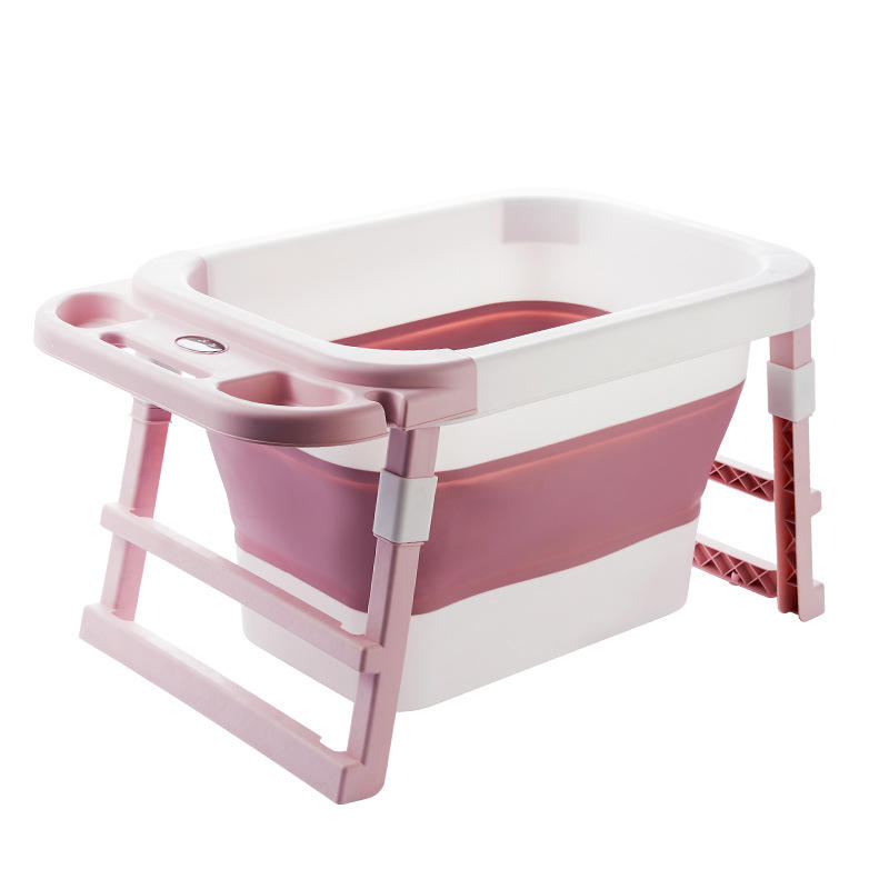 Wholesale hot selling 3-10 years old kids Foldable Collapsible Plastic Kids Bath tub Stand With Seat
