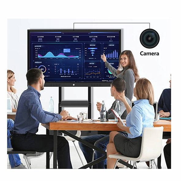 55 75 86 98 Inch TouchScreen 4k Smart Classroom infrared all in one portable Interactive Whiteboard 82 65 For teaching