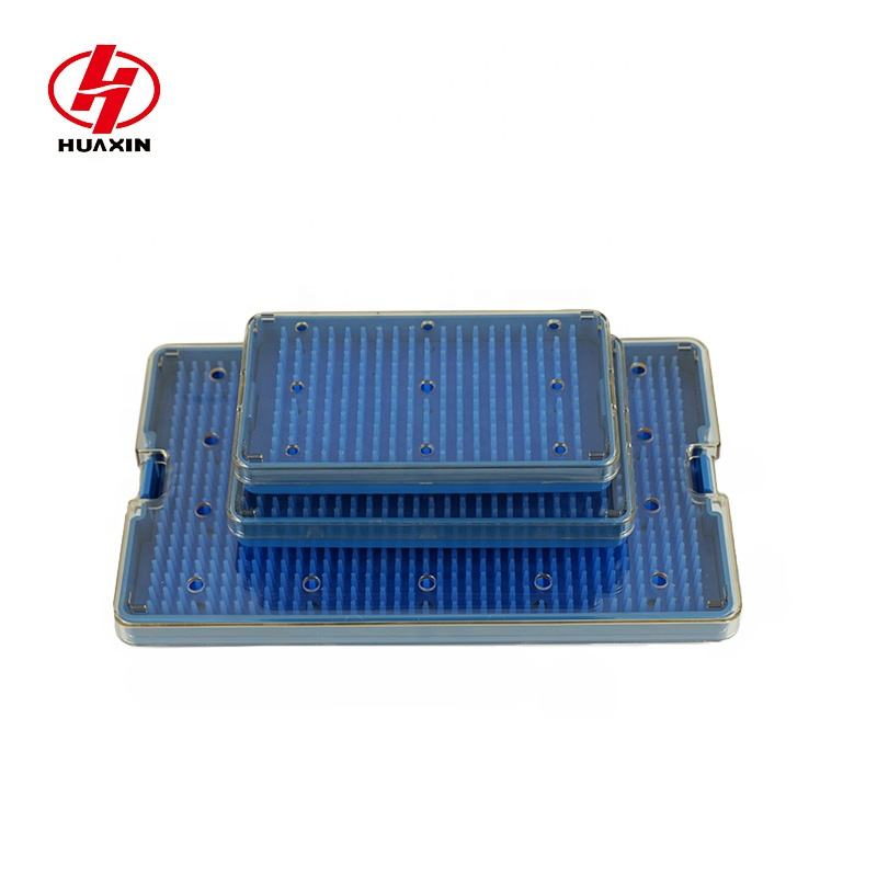 Reuse 2000 times Polymer PPSU medical microsurgical instruments sterilization and storage tray box container case