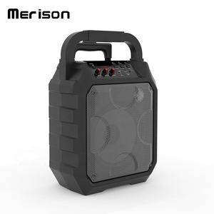 2020 outdoor 8 inches trolley portable karaoke party speaker with LED display screen