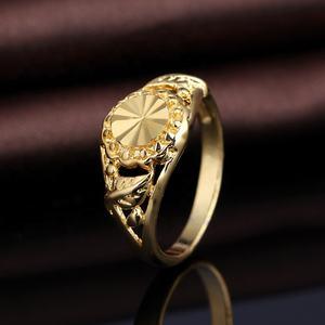 925 silber Ringe Schmuck 24K Vergoldet Nahen Osten Blatt Ring Gravieren Ringe für Frauen Männer